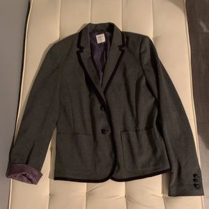 Gap Academy Grey Blazer nav piping 12 tall nwot